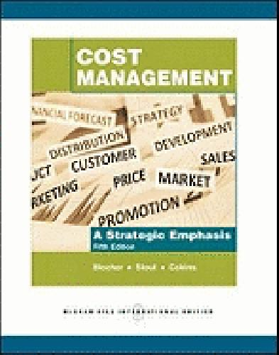 cost management blocher solution How can the answer be improved.